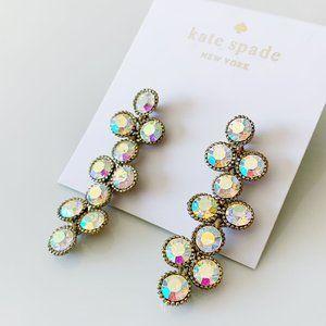 Kate Spade rainbow crystal earrings